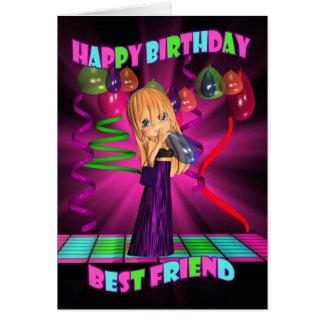 Best Friend Happy Birthday with Cute little Cutie Greeting Card