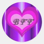 Best Friend heart Classic Round Sticker