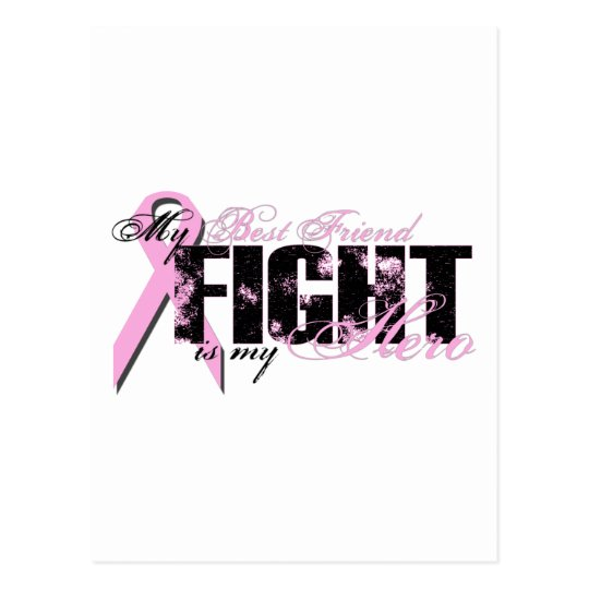 Best Friend Hero - Fight Breast Cancer Postcard