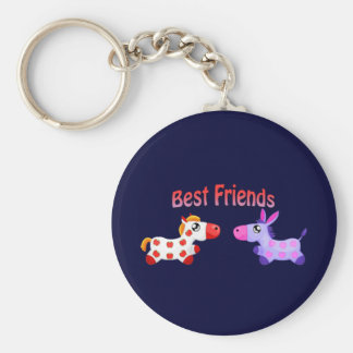 Best Friend Horses Keychain