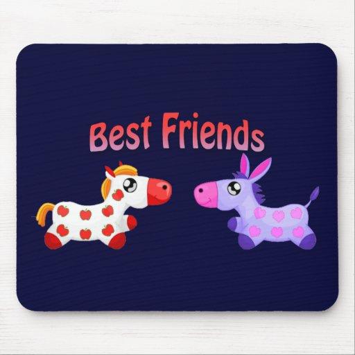 Best Friend Horses Mouse Pad