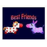 Best Friend Horses Postcard