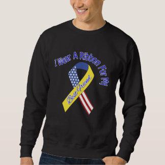 Best Friend - I Wear A Ribbon Military Patriotic Sweatshirt