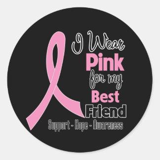 Best Friend - I Wear Pink - Breast Cancer Stickers