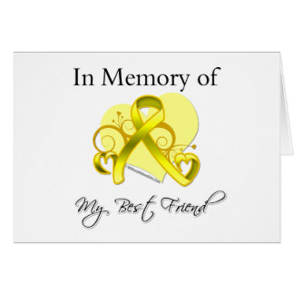 Best Friend - In Memory of Military Tribute Card