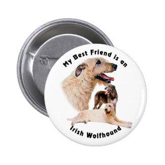 Best friend Irish Wolfhound Pinback Button