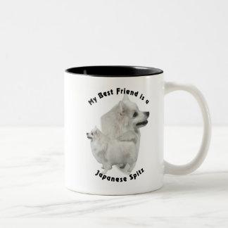 Best Friend Japanese Spitz Two-Tone Coffee Mug