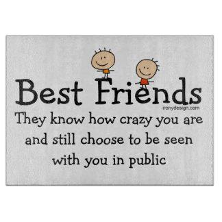 Best Friend Knows Cutting Board