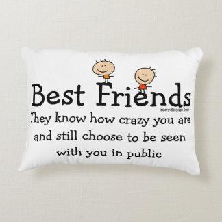Best Friend Knows Decorative Pillow