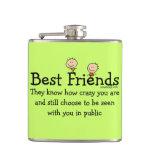 Best Friend Knows Hip Flask