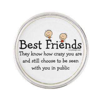 Best Friend Knows Lapel Pin