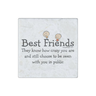 Best Friend Knows Stone Magnet