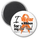 Best Friend - Leukemia Ribbon Refrigerator Magnets