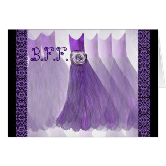 BEST FRIEND Maid of Honor Invitation VIOLET PURPLE Card