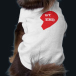 """Best Friend Matching Dog and Human Tee<br><div class=""""desc"""">These are the cutest matching shirts for you and your fur baby! This design features half of a red,  &quot;Best Friend&quot; heart. Show off your love for &quot;man&#39;s best friend&quot; or give the perfect gift to the animal lover in your life. Personalize the design by adding your own text.</div>"""