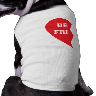 Valentines Themed Best Friend Matching Dogs Tee