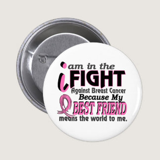 Best Friend Means The World To Me Breast Cancer Button