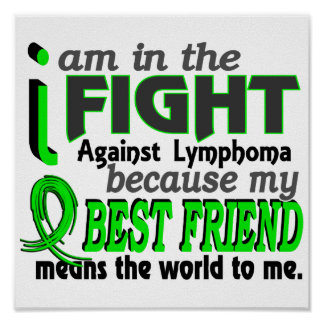 Best Friend Means The World To Me Lymphoma Print
