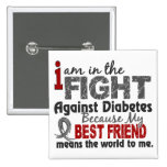 Best Friend Means World To Me Diabetes Pinback Button