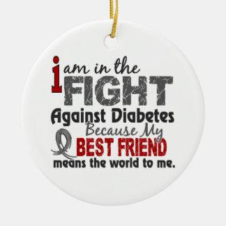 Best Friend Means World To Me Diabetes Ceramic Ornament