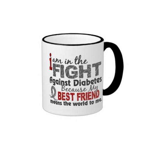 Best Friend Means World To Me Diabetes Coffee Mugs