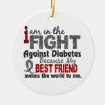 Best Friend Means World To Me Diabetes Ornaments