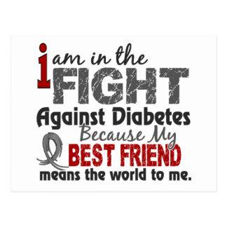 Best Friend Means World To Me Diabetes Postcard