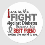 Best Friend Means World To Me Diabetes Round Stickers