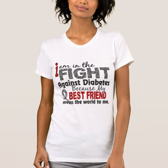 Best Friend Means World To Me Diabetes T-Shirt