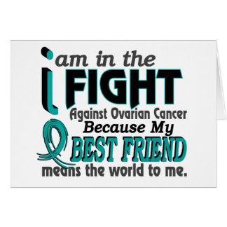Best Friend Means World To Me Ovarian Cancer Greeting Cards