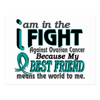 Best Friend Means World To Me Ovarian Cancer Postcards