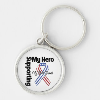 Best Friend - Military Supporting My Hero Keychain
