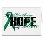 Best Friend My Hero - Kidney Cancer Hope Greeting Card