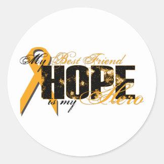 Best Friend My Hero - Leukemia Hope Classic Round Sticker