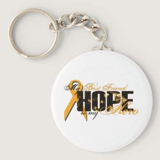 Best Friend My Hero - Leukemia Hope Keychain