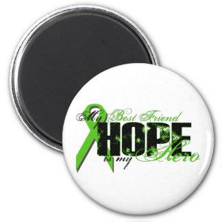 Best Friend My Hero - Lymphoma Hope 2 Inch Round Magnet