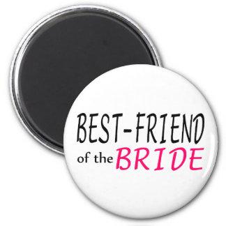 Best Friend Of The Bride 2 Inch Round Magnet