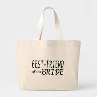 Best Friend Of The Bride Large Tote Bag
