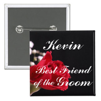 Best Friend Of The Groom 2 Inch Square Button