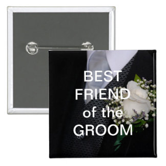 Best Friend Of The Groom Pinback Button