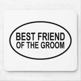 Best Friend of the Groom Wedding Oval Mouse Pad