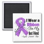 Best Friend - Pancreatic Cancer Ribbon Refrigerator Magnet