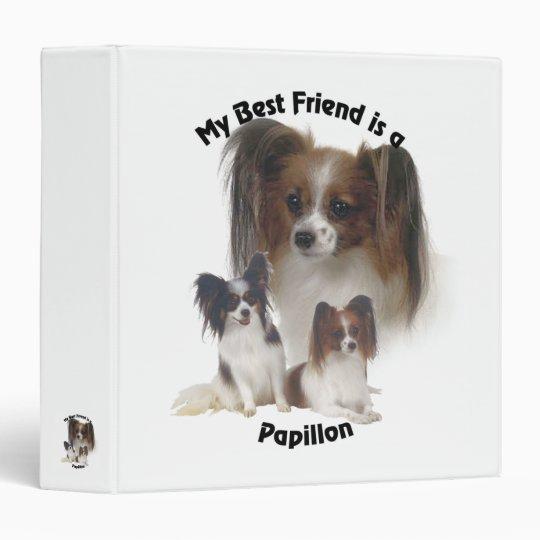 Best Friend Papillon 3 Ring Binder