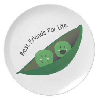 Best Friend Peas Party Plates