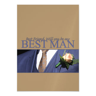 Best Friend   Please be my Best Man - invitation Magnetic Invitations