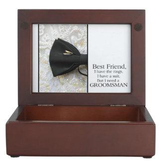 Best Friend   Please be my Groomsman - invitation Keepsake Box