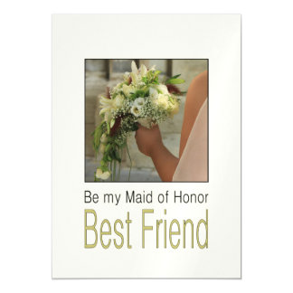 Best Friend, Please be my Maid of Honor? Magnetic Card
