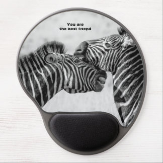 Best friend quote with Zebras Gel Mouse Pad