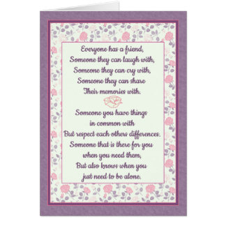 Best Friend Rose Marble Card