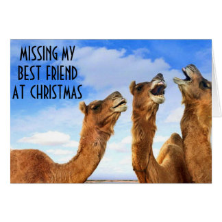 BEST FRIEND=SINGING THE BLUES-MISS U AT CHRISTMAS GREETING CARDS